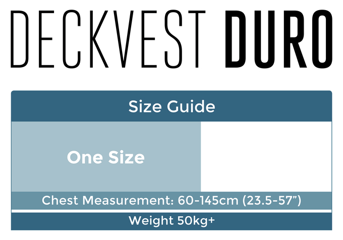 Deckvest duro size guide 2016