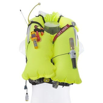 Deckvest 5D (Pro Sensor) - inflated with AIS MOB1 accessory fitted